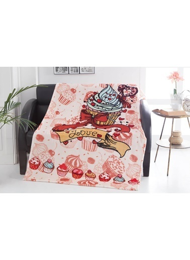 Dolce Bonita Home Wellsoft Tv Battaniye 100X170 Cupcake Renkli